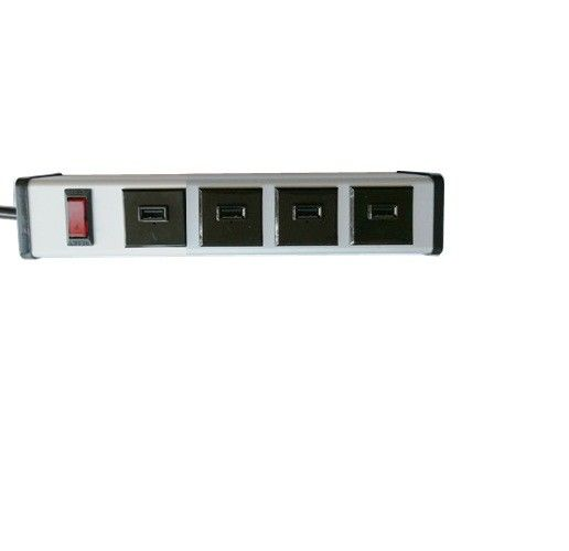5V 2.1A Mountable Only 4 USB Port Power Strip With Alu Alloy Housing ETL FCC CE Approved