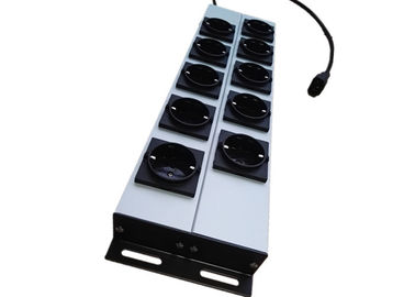 10 Way European Power Strip Multi Outlet AC Power Distribution With Aluminum Housing