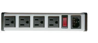 "Hardwired 4 Outlet Smart PDU Power Strips 5"" To 14"" Aluminium Alloy Metal Housing"